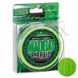 Плетеный шнур MADCAT G2 8-BRAID MAIN LINE 270м. 0.50мм. GREEN