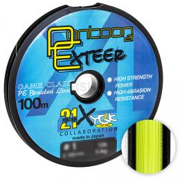 Плетеный шнур PONTOON 21 EXTEER X4 100м. 0.128мм. YELLOW
