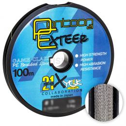 Плетеный шнур PONTOON 21 EXTEER X4 100м. 0.128мм. GRAY
