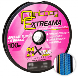 Плетеный шнур PONTOON 21 EXTREEMA X4 100м. 0.205мм. MULTICOLOR