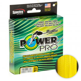 Плетеный шнур POWER PRO HI-VIS YELLOW 92м. 0.10мм.
