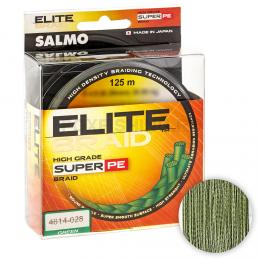 Плетеный шнур SALMO ELITE BRAID 125м. 0.20мм. GREEN