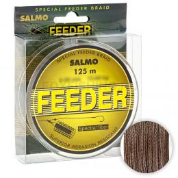 Плетеный шнур SALMO FEEDER 125м. 0.12мм. BROWN