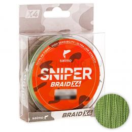 Плетеный шнур SALMO SNIPER BRAID 120м. 0.148мм. ARMY GREEN