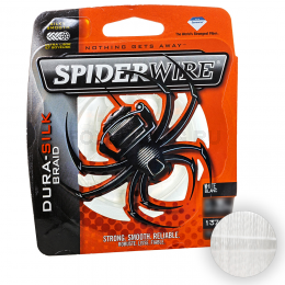 Плетеный шнур SPIDERWIRE DURA-SILK 137м. 0.40мм. WHITE