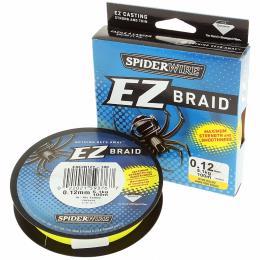 Плетеный шнур SPIDERWIRE EZ YELLOW 0.35mm 100m