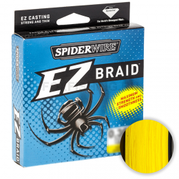 Плетеный шнур SPIDERWIRE EZ YELLOW 0.35mm 100m