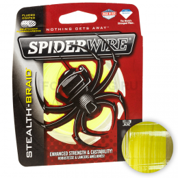 Плетеный шнур SPIDERWIRE STEALTH 137м. 0.35мм. HI VIS YELLOW