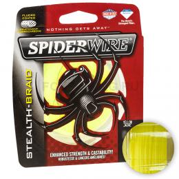 Плетеный шнур SPIDERWIRE STEALTH HI-VIS YELLOW 0,38(137м.)