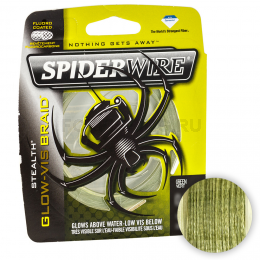 Плетеный шнур SPIDERWIRE STEALTH 137м. 0.35мм. GLOW VIS GREEN