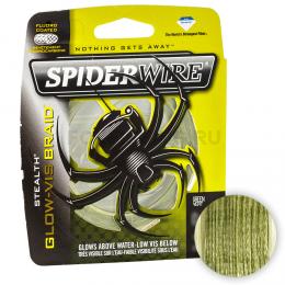 Плетеный шнур SPIDERWIRE STEALTH 137м. 0.35мм. GLOW VIS GREEN