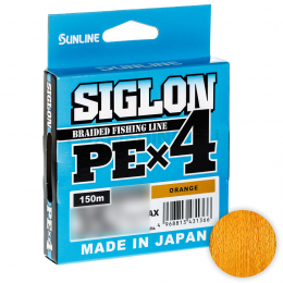 Плетеный шнур SUNLINE SIGLON X4 150м. 0.187 ORANGE