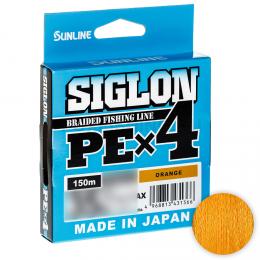 Плетеный шнур SUNLINE SIGLON X4 150м. 0.242 ORANGE