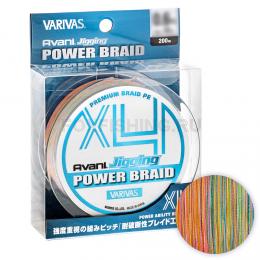Плетеный шнур VARIVAS AVANI JIGGING Power Braid PE x4 200m 1.2