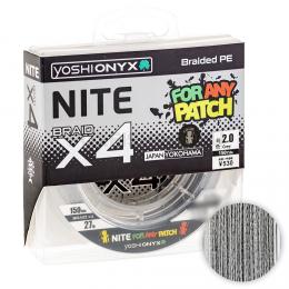 Плетеный шнур YOSHI ONYX NITE LEGEND DARK GREY x4 1.5