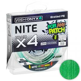 Плетеный шнур YOSHI ONYX NITE X4 135м. 0.8PE GREEN