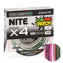 Плетеный шнур YOSHI ONYX NITE LEGEND x4 135м. 2.0 Multicolor