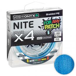 Плетеный шнур YOSHI ONYX NITE X4 135м. 0.8PE LIGHT BLUE
