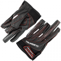 Перчатки TSURIBITO GLOVES LFG-110 черный с белым