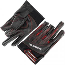 Перчатки TSURIBITO GLOVES LFG-110 черный с красным