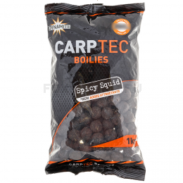 Бойлы DYNAMITE BAITS SPICY SQUID CARPTEC 20 мм. 1 кг.