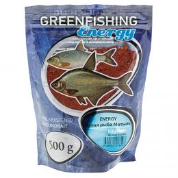 Прикормка GREENFISHING ENERGY ICE SERIES Белая рыба (Мотыль)