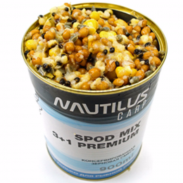 Прикормка NAUTILUS SPOD MIX 3+1 Premium 900ml