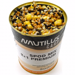 Прикормка NAUTILUS SPOD MIX 2+1 Premium 900ml