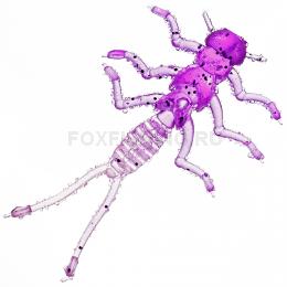 Силиконовая приманка MICROKILLER ВЕСНЯНКА 35мм. Фиолетовый неон