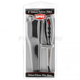 Нож RAPALA филейный лезвие 10 см, нескольз. рук., чехол с точилом