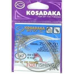 Поводки KOSADAKA CLASSIC 1X7 22см. 3.5кг.