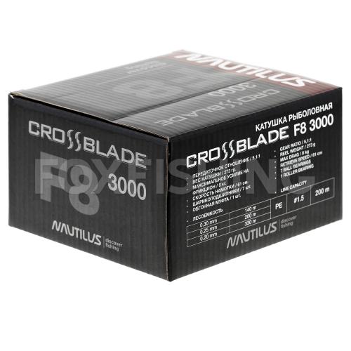 Катушка безынерционная NAUTILUS CROSSBLADE F8 3000 фото №9