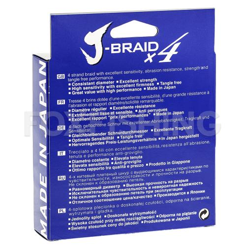 Плетеный шнур DAIWA J-BRAID X4 135м. 0.25мм. YELLOW фото №2