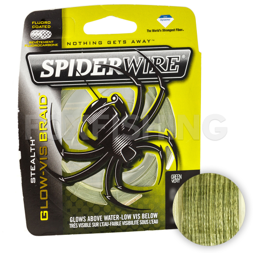 Плетеный шнур SPIDERWIRE STEALTH 137м. 0.38мм. GLOW VIS GREEN фото №1