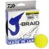 Плетеный шнур DAIWA J-BRAID X4 135м. 0.21мм. YELLOW фото №1