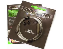 Карповый монтаж KORDA Dark Matter Leader Heli 40 lb 1м Clear KSZ49