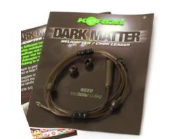 Карповый монтаж KORDA Dark Matter Leader Heli 40 lb 1м Weed KSZ45